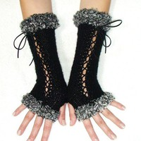 Fingerless Long Corset Gloves