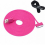 Colorful 30pin USB Data Sync and Charge Cable Compatible with Iphone 4/4s, Iphone 3g/3gs, Ipod (Hot Pink,10ft Long): Cell Phones &amp; Accessories
