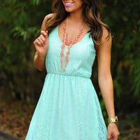 Feeling So Alive Dress: Mint | Hope's
