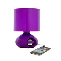 iHome MP3 College Speaker Lamp - Purple Cool Dorm Stuff Music Lighting Study Useful Functions