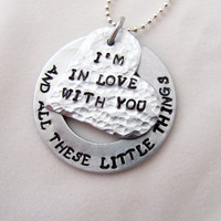 Hand Stamped One Direction Necklace I&#x27;m In Love by StampedOutLove