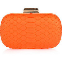 Emilio Pucci|Python box clutch|NET-A-PORTER.COM