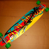 RASTA COMPLETE DROP THROUGH LONGBOARD BOARD skateboard skate thru surf snow usa