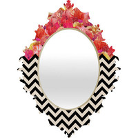 DENY Designs Home Accessories | Bianca Green Chevron Flora 1 Baroque Mirror