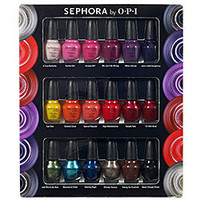 SEPHORA by OPI Eighteen Piece Mini Nail Colour Set ($81 Value)