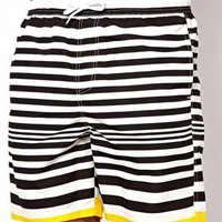 ASOS Stripe Swim Shorts at asos.com