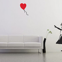 banksy balloon girl wall stickers by the binary box | notonthehighstreet.com