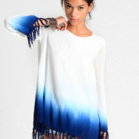 Water Trail Dip Dye Dress By Shown To Scale - $96.00 : ThreadSence, Women's Indie & Bohemian Clothing, Dresses, & Accessories