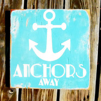 Typography Wall Art Anchors Away