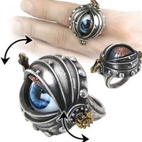 Alchemy Gothic Steampunk Automatons Eye Ring