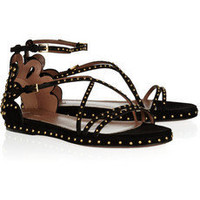 ALAA Studded suede sandals