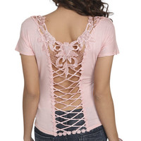 Dolman Crochet Back Top | Shop Tops at Wet Seal