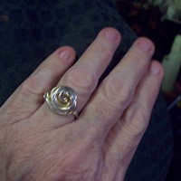 Silver &amp; Gold Swirl Ring