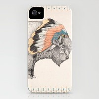 White Bison iPhone Case by Sandra Dieckmann | Society6