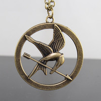 The Hunger Games Pendant Inspired Mockingjay by BeautyandLuck on Etsy