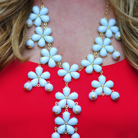 The Flower Crew Necklace: Light Mint | Hope's