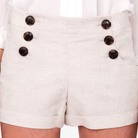Essential Linen Blend Shorts | FOREVER 21 - 2042455692