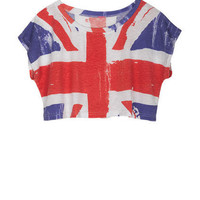 Union Jack Allover Crop Tee