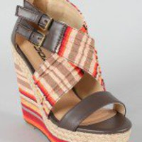 Soda Wilbur-S Multicolor Striped Platform Wedge