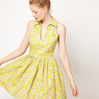 ASOS | ASOS Printed Summer Dress With Collar at ASOS
