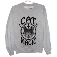 Occult Cat Sweater  Cat Magic Cat Sweatshirt by killercondoapparel