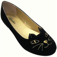 Kitty Black Women&amp;#39;s Vegan Flat Shoes