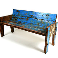 Rio Arm Bench by EcologicaMalibu on Etsy