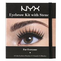 NYX Cosmetics Eyebrow Kit Set With Stencil, 0.7 Oz: Beauty