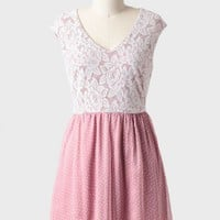 starry eyed lace detail dress in mauve at ShopRuche.com