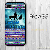 HAKUNA MATATA with aztec pattern  : Handmade Case for Iphone 4/4s , Iphone 5 Case Iphone
