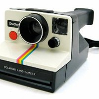 Polaroid OneStep SX-70 White/Rainbow Camera: Camera & Photo