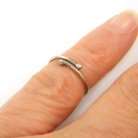 First Knuckle Ring, Sterling Silver Above Knuckle Ring Simple Stacking Jewelry for Her