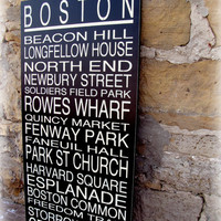 BOSTON Subway Story SignSubway Scroll Inspired by cellardesigns
