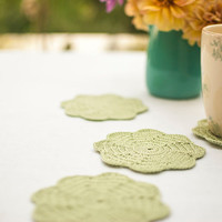 Cottage Chic Coaster Set - Bridal Shower