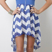 Royal Violet Chevron Dress