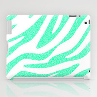 Mint Zebra iPad Case by M Studio - iPad 2nd, 3rd, 4th Gen and iPad Mini