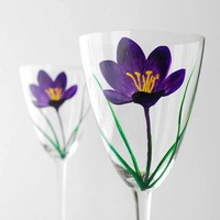 Purple Crocus Wine GlassesLimited Edition by MaryElizabethArts
