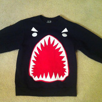 Custom Sharkface Sweatershirt by twentyfifthandgrey on Etsy