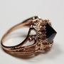 belonging to the darkness. rose gold vermeil &amp; black cz