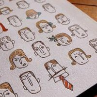 portraits  limited edition letterpress 8 x 10 by mummysam on Etsy
