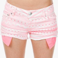 A&#x27;GACI Neon Pink Aztec Cut Off - Spring Break Checklist