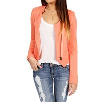 Coral Knit Zipper Jacket 