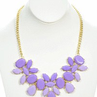 May Flowers Necklace in Lilac - Jewelry