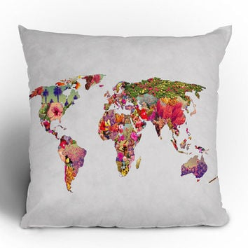 Bianca Green Its Your World Throw Pillow - Indoor /