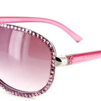 """Hollywood Height"" Designer Quality Aviator Sunglasses-Swarovski Crystals,100%UV"