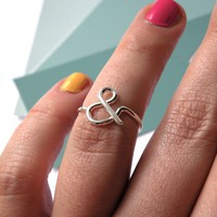 Supermarket: You &amp; Me - Ampersand ring from Melanie Favreau
