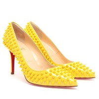Browns fashion &amp; designer clothes &amp; clothing | CHRISTIAN LOUBOUTIN | Pigalle Spiked Patent Pumps