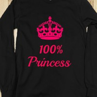 100% PRINCESS PINK ON DARK LONG SLEEVE