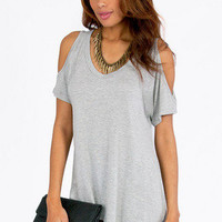 Ice Cold Shoulder Top $19