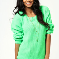 Katherine Neon Oversized Jumper